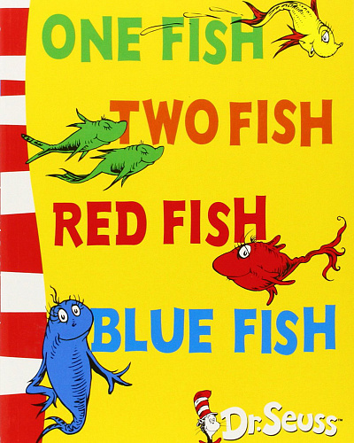 Книга Доктора Сьюсса One Fish Two Fish